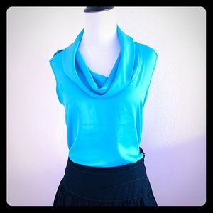The Limited blouse turquoise size S lose fit